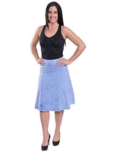 hardtail Circle Circle Skirt (L, Light Blue Denim)