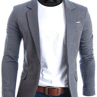 FLATSEVEN Mens Slim Fit Casual Premium Blazer Jacket