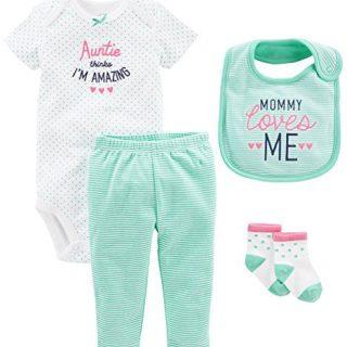 Simple Joys by Carter's Baby Girls' 4-Piece Bodysuit