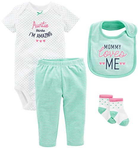 Simple Joys by Carter's Baby Girls' 4-Piece Bodysuit