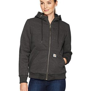 Carhartt Women's Rain Defender Rockland Quilt Lined Zip Hooded Sweatshirt