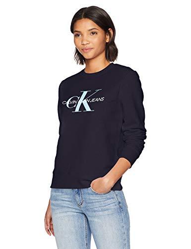 Calvin Klein womens Monogram Crew Neck Sweatshirt