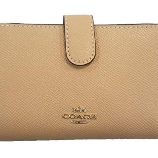Coach Crossgrain Leather Medium Corner Zip Wallet