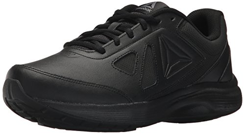 Reebok Men's Walk Ultra 6 DMX MAX 4E Sneaker, Black/Alloy-Wide