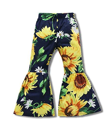 Little Kids Baby Girls Summer Floral Print Long Pants