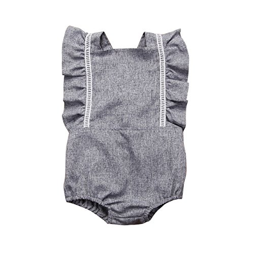 Mornbaby Newborn Girl Clothes Baby Girl Ruffles Romper Lace Sleeveless