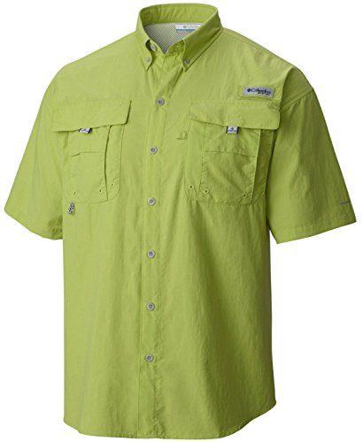 Columbia Men's Bahama II Short Sleeve Shirt, Napa Green, S