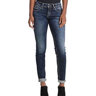 Silver Jeans Co. Women's Boyfriend Mid Rise Jeans