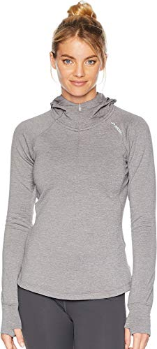 Brooks Women's Notch Thermal Hoodie Heather Sterling