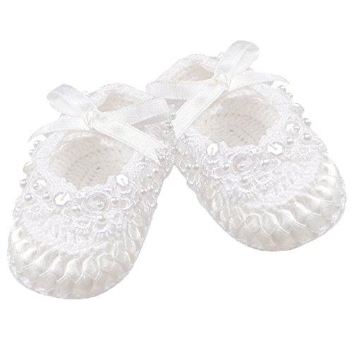 Country Kids Baby Girls' Crochet Christening Baptism Crib Shoe