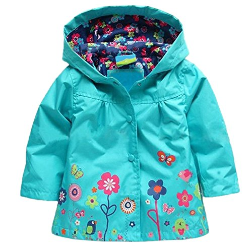 TAOJIAN Cute Hoodie Outwear Baby Girls Kids Waterproof Hooded Coat