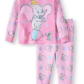Disney Dumbo 2 Piece Baby Girls Sleepwear Pajama Set (9 Months)