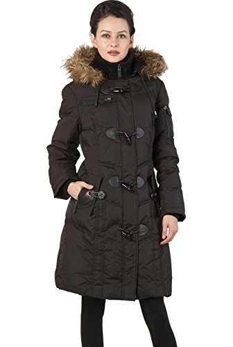 BGSD Women's Waterproof Quilted Down Toggle Coat