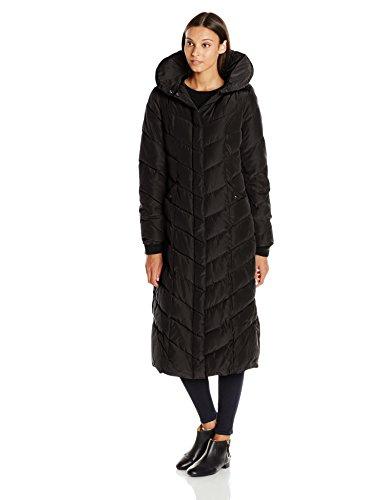 Steve Madden Women's Long Chevron Maxi Puffer Coat