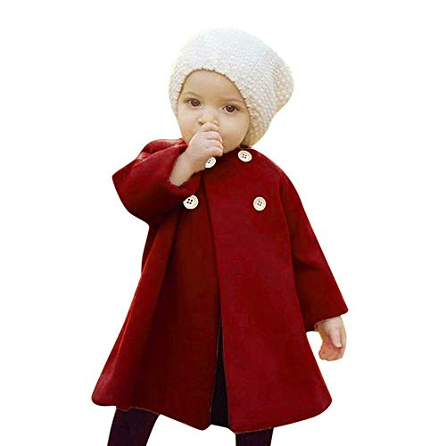 SWNONE Baby Coats 2018 Fall Winter Kid Baby Girl Cloak Button Jacket
