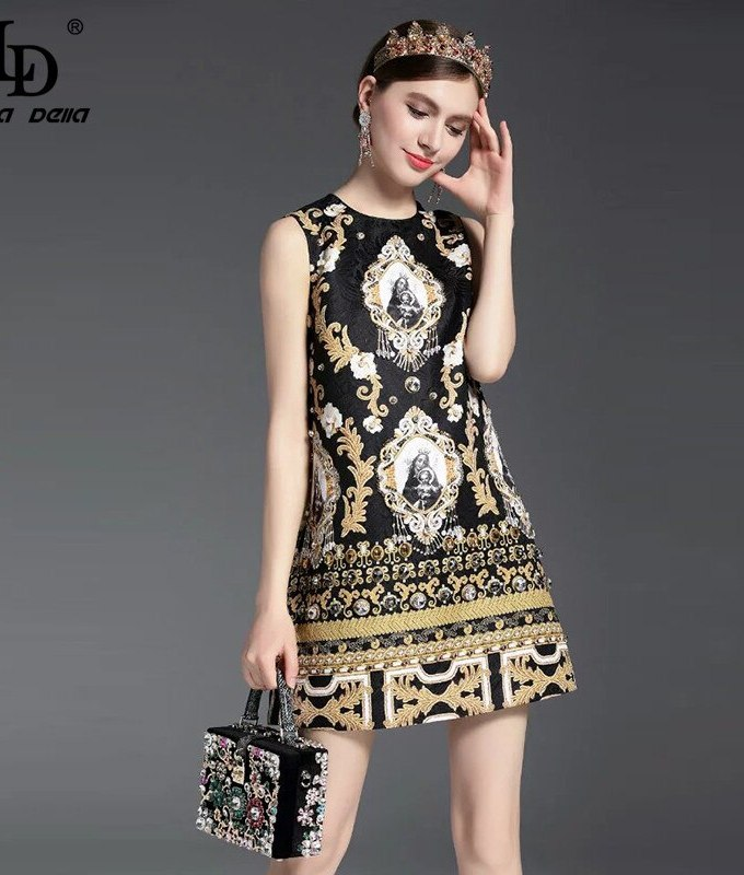 High Quality New Fashion Runway Summer Dress Women's Sleeveless