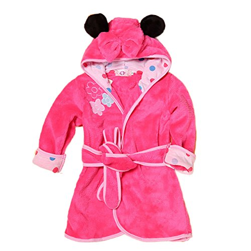 Toddler Baby Boys Girls Cartoon Bathrobe Flannel Robe Winter Night-Robe