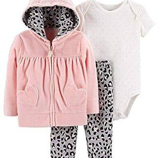 Carter's Baby Girl's 3-Piece Clothing Set, Purrfect Buffalo Plaid