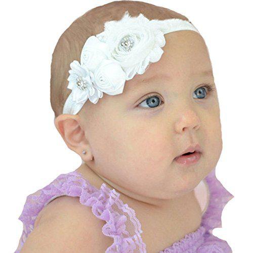 Miugle Baby Christening Headbands Baby Girls Baptism Headbands