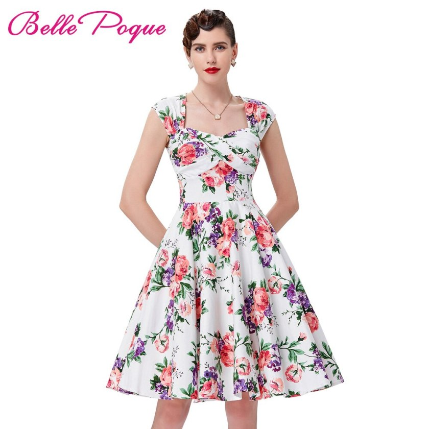 Retro Vintage Dresses Belle Poque Women Rockabilly Summer Dress