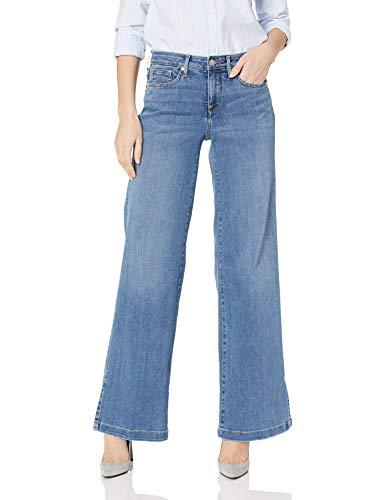 NYDJ Women's Wide Leg Trouser Jean with Side Slits