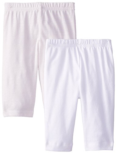 Gerber Unisex-Baby Newborn 2 Pack Pants Stripes