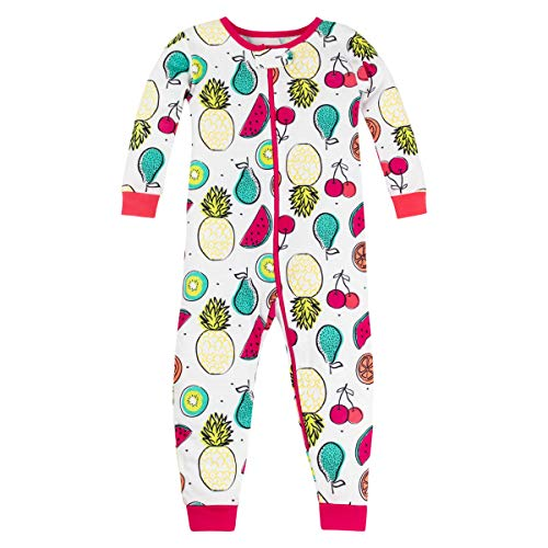 LAMAZE Organic Baby Girls' Toddler Footless Stretchy Sleepwear