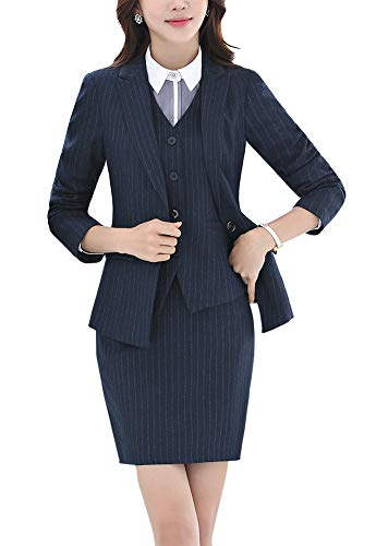 Women's Three Pieces Office Lady Blazer Suits Business