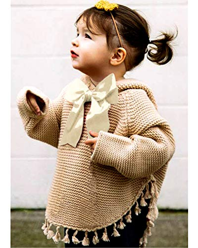 ReachMe Baby Girl Hooded Pullover Sweater Knitted Cardigan Coat