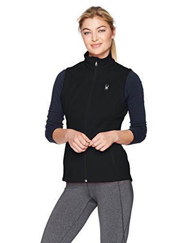 Spyder Women's Endure Mid Wt Stryke Vest, Black, Small