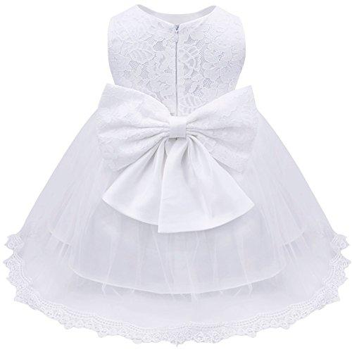 iEFiEL Baby Girls Lace Baptism Flower Dress Wedding Pegeant Tutu