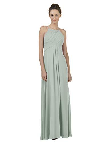 Alicepub Long Chiffon Bridesmaid Dress Maxi Evening Gown