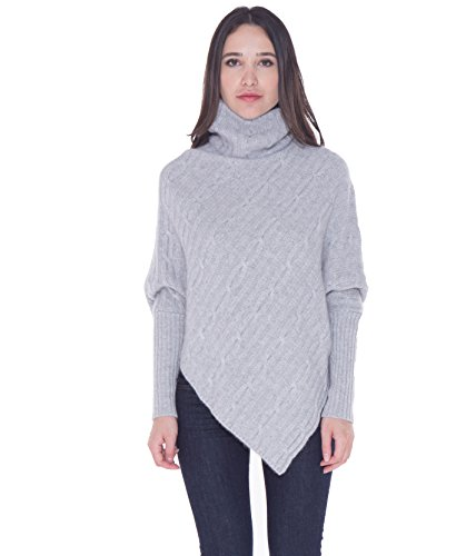 cashmere 4 U 100% Cashmere Poncho Thick Cable Knit