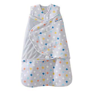 Halo SleepSack Swaddle, Micro-Fleece, Plus/Signs Multicolor