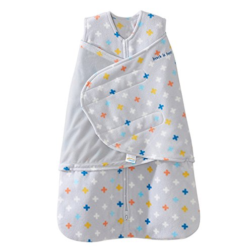 Halo SleepSack Swaddle, Micro-Fleece, Plus/Signs Multicolor