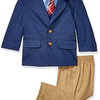 Nautica Baby Boys 4-Piece Suit Set with Dress Shirt, Jacket