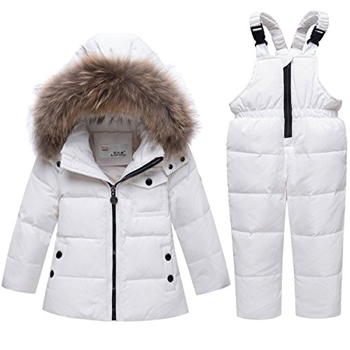 JELEUON Baby Girls and Boys Two Piece Winter Warm Hooded