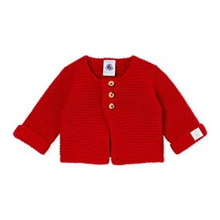 Petit Bateau Unisex Baby Red Cardigan (6 Month)