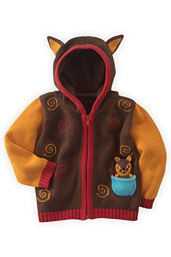 Joobles Organic Baby Cardigan Sweater - Silly The Fox
