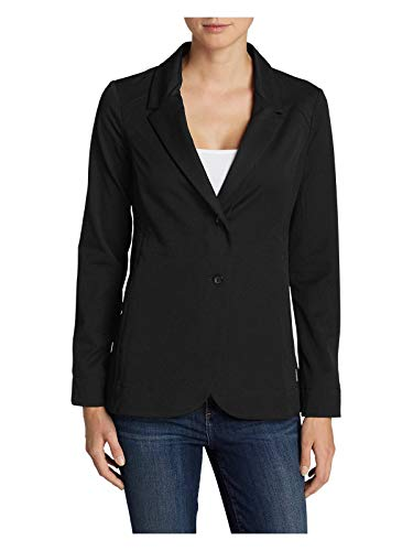 Eddie Bauer Women's Travel Blazer, Black Regular