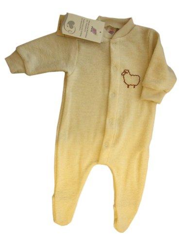 Engel 100% merino wool baby beige pajamas romper overall