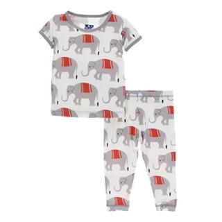 Kickee Pants Little Boys Print Short Sleeve Pajama Set