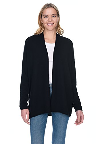 State Cashmere Women's 100% Pure Cashmere Light Open Front Cardigan