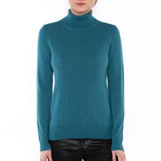 JENNIE LIU Women's 104% Pure Cashmere Long Sleeve
