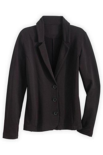 Fair Indigo Fair Trade Organic Knit Blazer (S, Black)