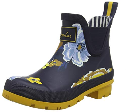 Joules Women's Wellibob Navy Ankle-High Rubber Rain Boot