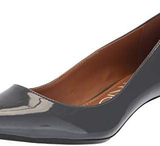 Calvin Klein Women's Gabrianna Pump, Steel Greystone Patent