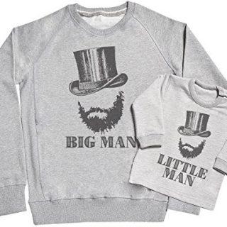 SR - Big Man & Little Man Father & Baby Sweatshirt Gift Set