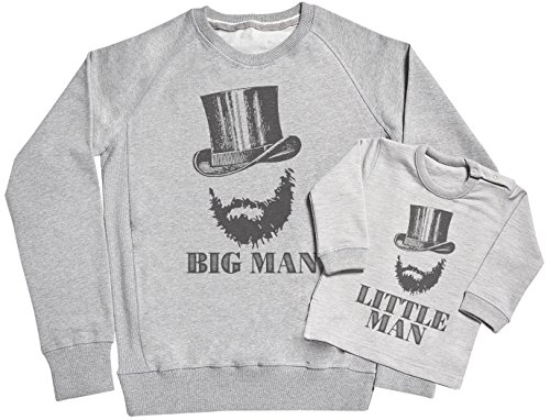 SR - Big Man & Little Man Father & Baby Sweatshirt Gift Set