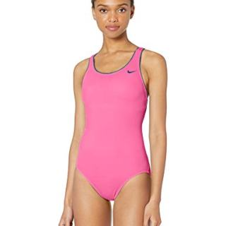 Nike Swim Women's Solid Powerback One Piece Swimsuit
